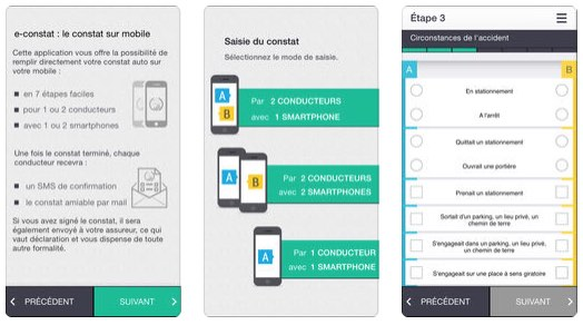 application constat auto